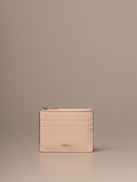 Credit card holder Babylon S Furla in saffiano leather