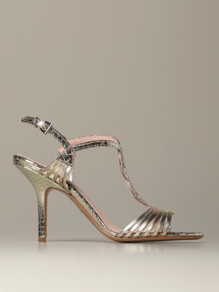 Anna F.: Sandalo listini pelle laminata