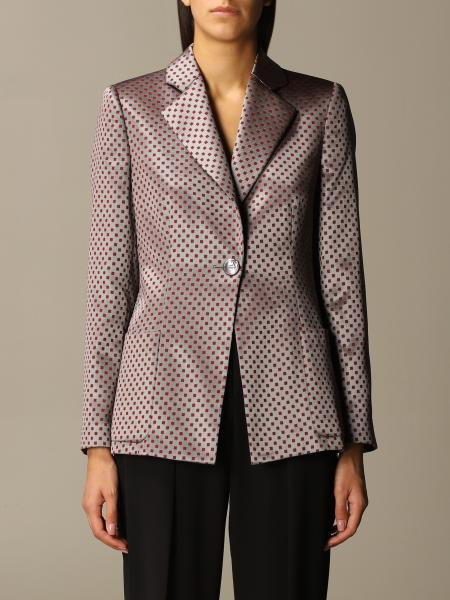Giorgio Armani: Giorgio Armani checked jacket in virgin wool and viscose