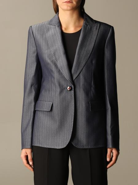 Giorgio Armani: Giorgio Armani jacket in chevron virgin wool