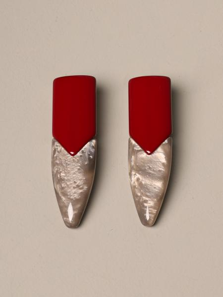 Giorgio Armani: Giorgio Armani earrings in bicolor resin