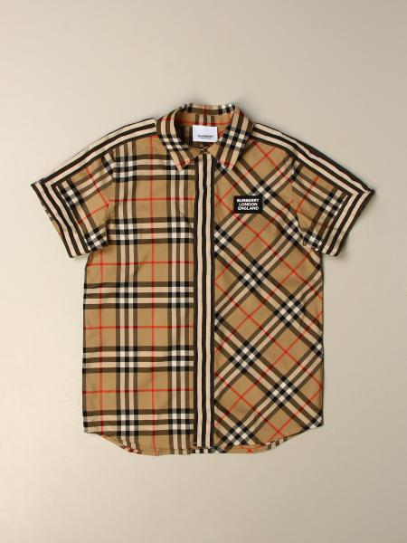 Burberry kids: Burberry shirt in check cotton