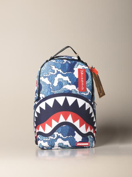 The Shark Wave Sprayground backpack in recycled fabric with bottles