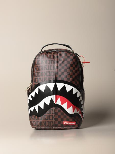 Sprayground backpack in vegan leather with shark print