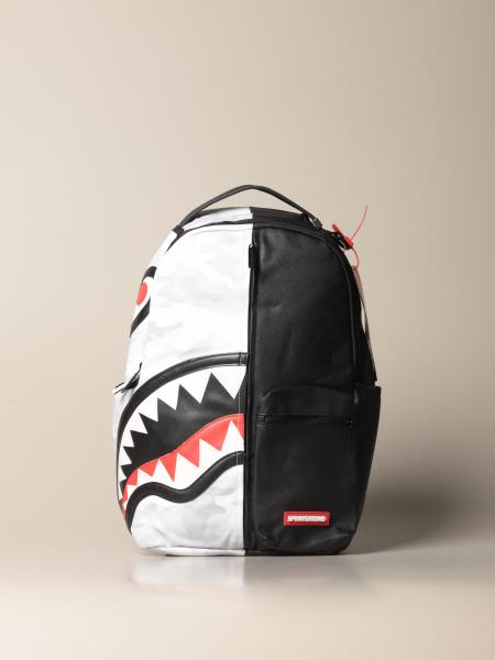 Damage Control Sprayground backpack in vegan leather with shark print
