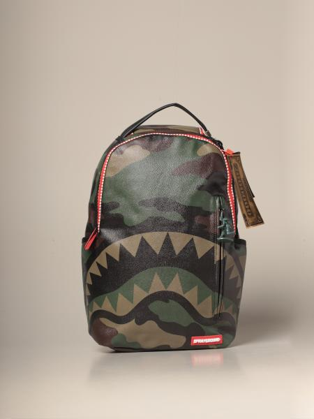 Commando Sprayground backpack in camouflage vegan leather