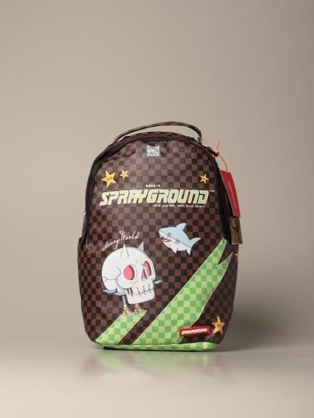 Sprayground backpack in vegan leather with thunder sharks print
