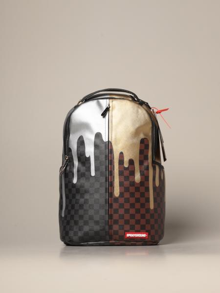 Sprayground duble drips print backpack in printed vegan leather