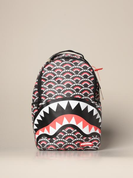 Sprayground backpack in vegan leather with monogram print