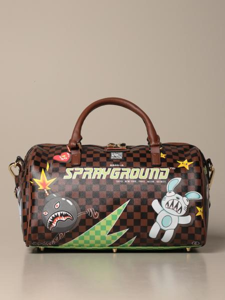 Sprayground satchel in vegan leather with thunder sharks print