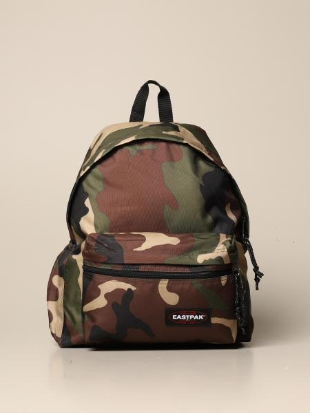 Padded zippl'r Eastpak backpack in camouflage canvas