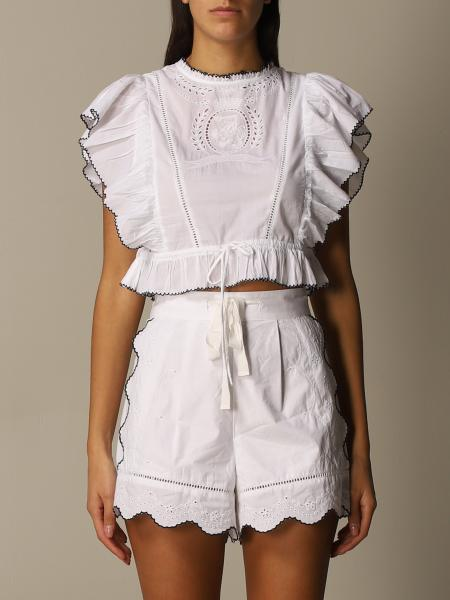 Hcw cutwork & embroidery blouse