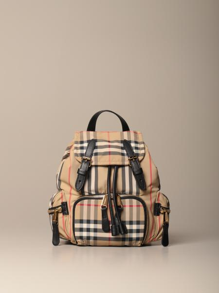 Burberry Icon Rucksack backpack in check cotton