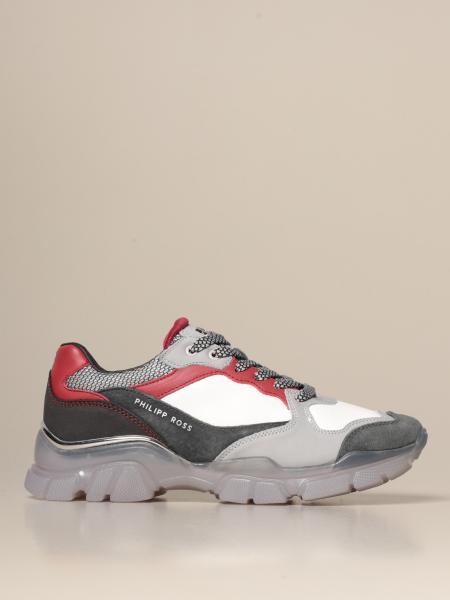 Philipp Ross sneakers in leather and fabric