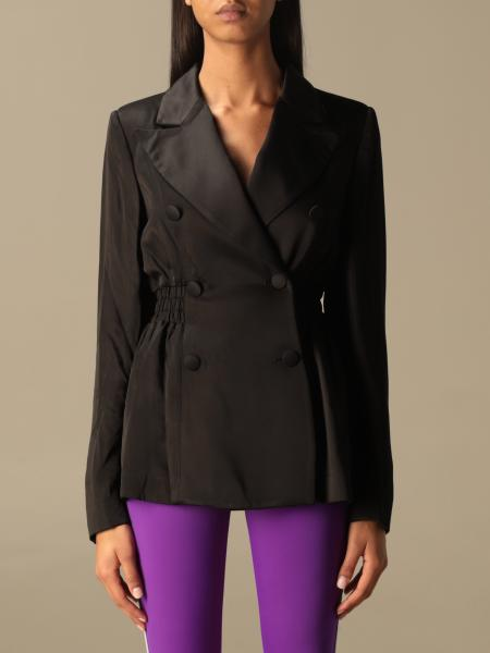 Double-breasted blazer Gcds with logo