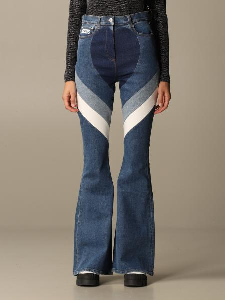 Heart GCDS jeans in denim with bands