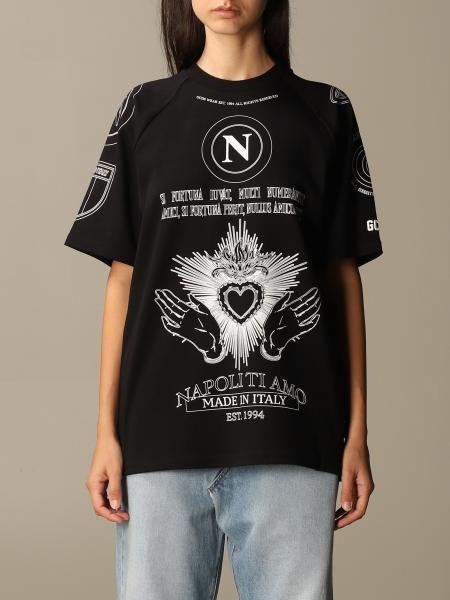 T-shirt GCDS in cotone con logo Napoli