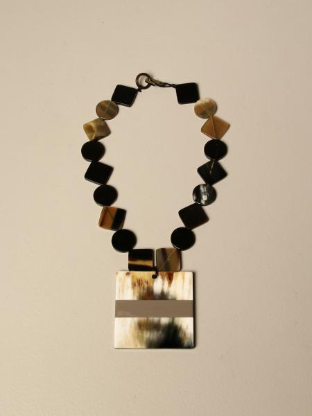 Allujewels: Square horn necklace. Rigid aluminum jewels
