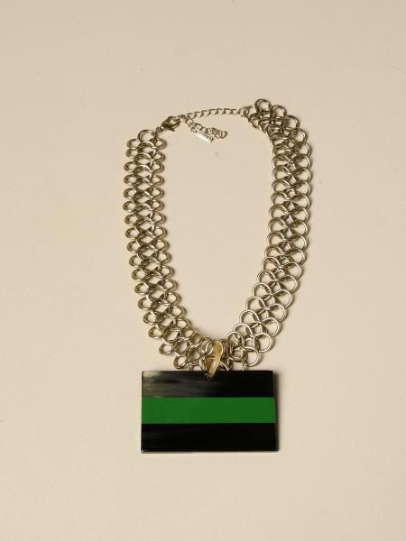 Allujewels: Chain Necklace Allu 'jewels with horn pendant
