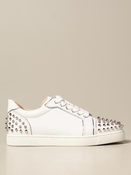 Christian Louboutin women: Christian Louboutin Vieira sneakers in leather with studs