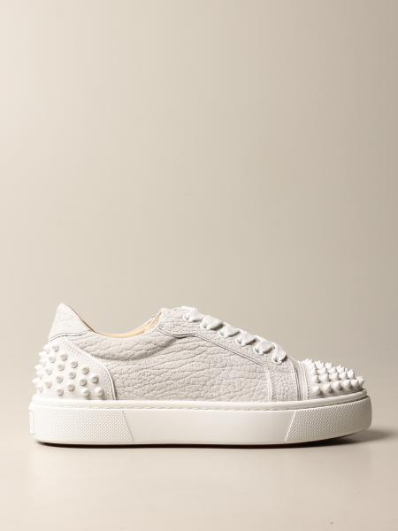 Christian Louboutin women: Vierissima 2 Christian Louboutin sneakers in split leather with studs