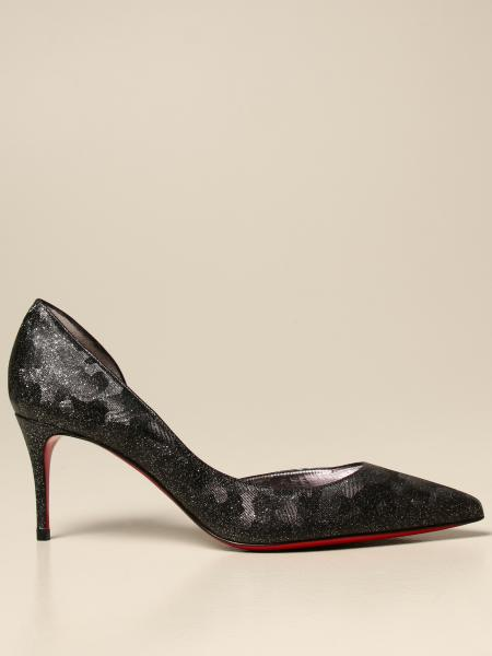 Christian Louboutin women: Christian Louboutin Iriza pumps in lurex fabric