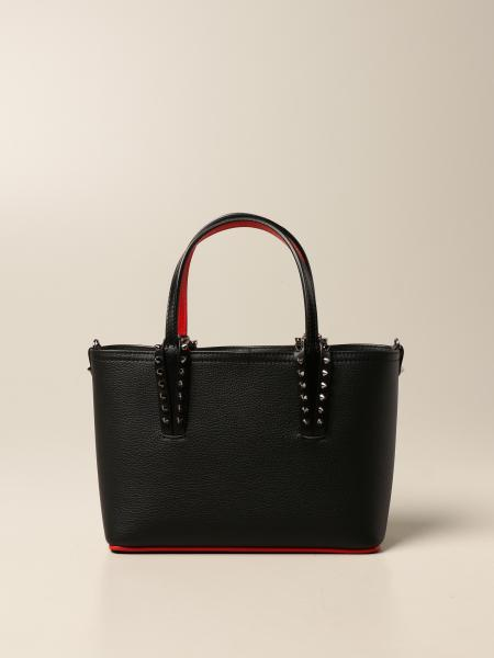 Christian Louboutin women: Christian Louboutin Cabata bag in leather with spikes