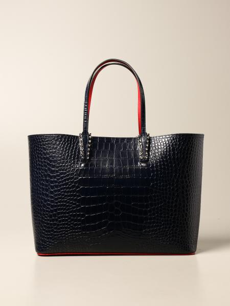 Christian Louboutin women: Christian Louboutin Cabata bag in crocodile print leather