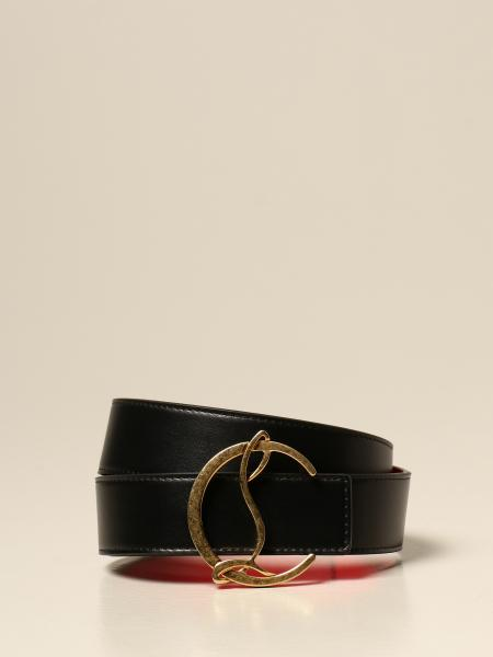 Christian Louboutin women: Christian Louboutin belt in genuine leather