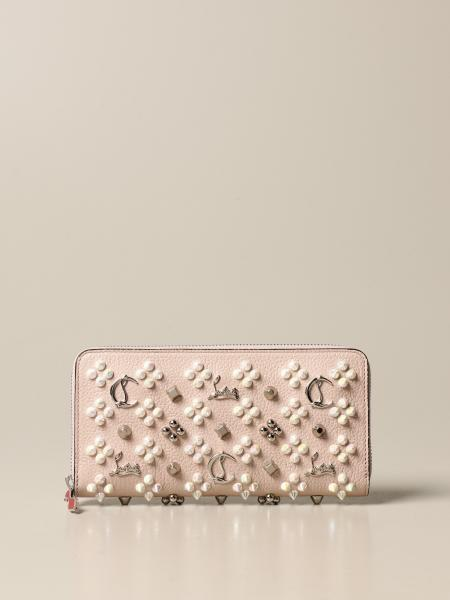 Christian Louboutin women: Christian Louboutin Panettone wallet with all over studs