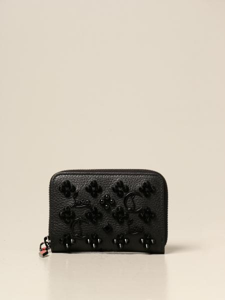 Christian Louboutin women: Christian Louboutin Panettone wallet with studs