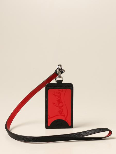 Christian Louboutin women: Credit card holder Miloucah Christian Louboutin in leather