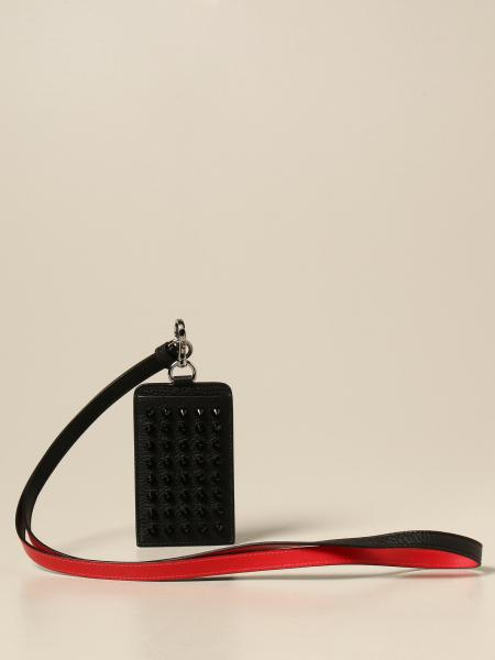 Christian Louboutin women: Christian Louboutin Miloucah credit card holder in leather with studs
