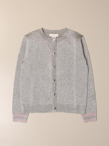 Stella McCartney crewneck cardigan in lurex cotton