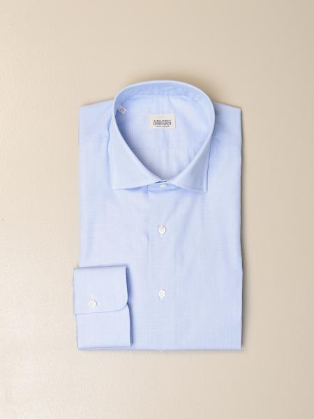 Alessandro Gherardi shirt in fil a fil cotton
