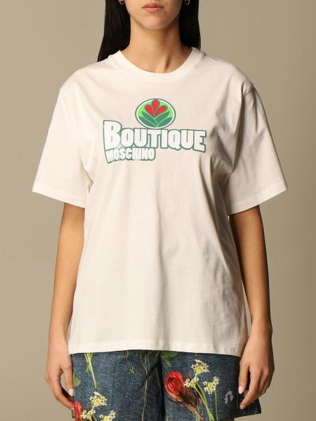 Boutique Moschino: T-shirt Boutique Moschino in cotone con stampa logo