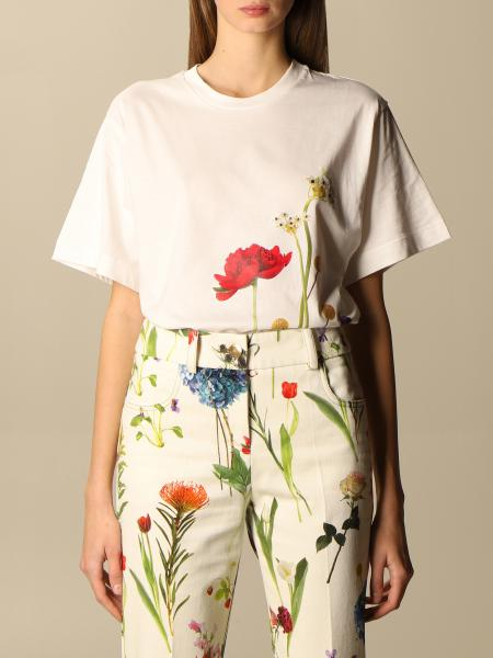 Boutique Moschino: T-shirt Boutique Moschino in cotone con stampa floreale