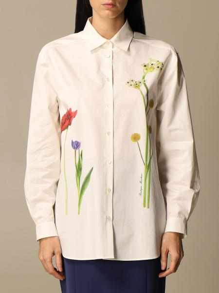 Boutique Moschino: Camicia Boutique Moschino in cotone con stampa floreale