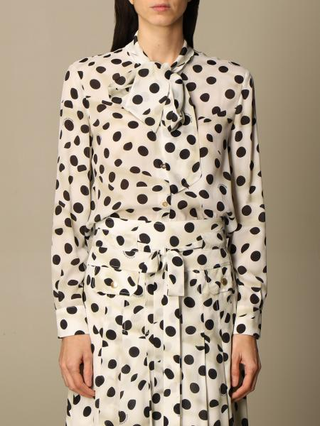 Boutique Moschino: Camicia Boutique Moschino in seta a pois
