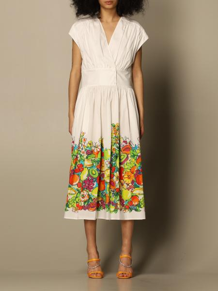 Boutique Moschino: Moschino Boutique longuette dress with fruit print