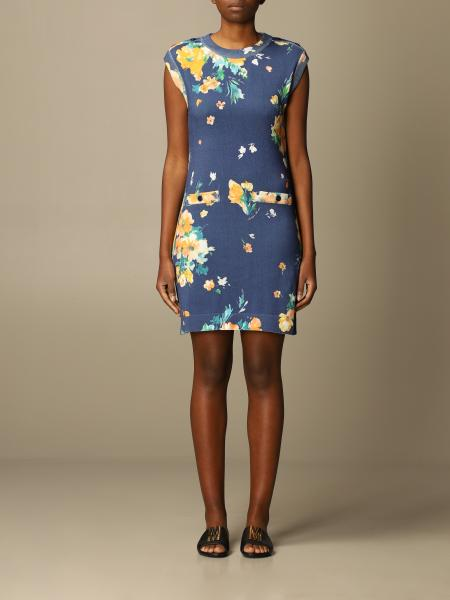 Boutique Moschino: Moschino Boutique sheath dress in patterned cotton