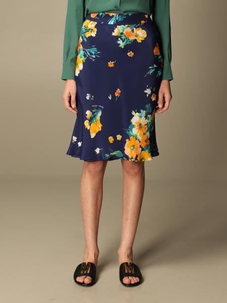 Boutique Moschino: Moschino Boutique skirt in floral patterned silk