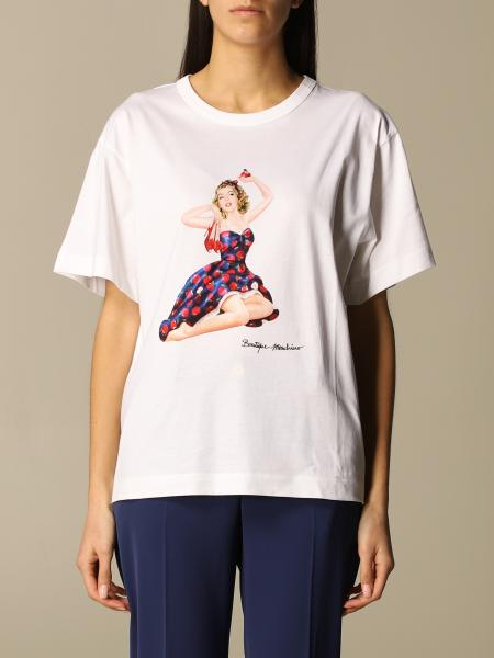 Boutique Moschino: Boutique Moschino T-shirt in cotton with Pin-up print