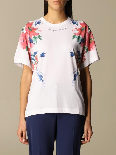 Boutique Moschino: Moschino Boutique T-shirt in cotton with floral print