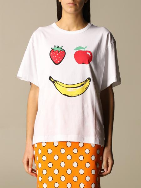 Boutique Moschino: Moschino Boutique T-shirt in cotton with fruit print