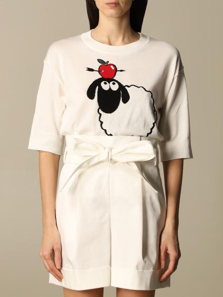 Boutique Moschino: Boutique Moschino T-shirt in cotton with sheep and apple