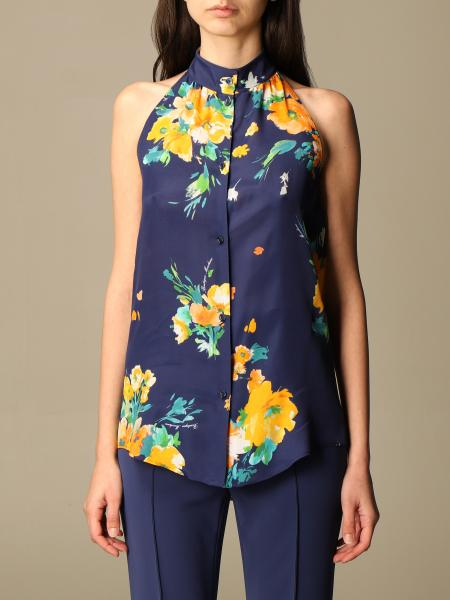 Boutique Moschino: Floral patterned silk blend shirt