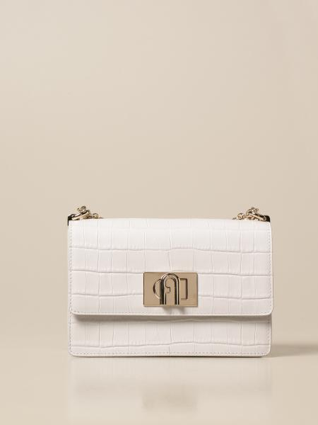 1927 Furla Bandoliera bag in leather with crocodile print