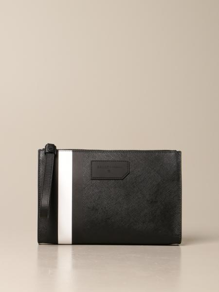 Bally: Skid Bally clutch bag in coated canvas with trainspotting
