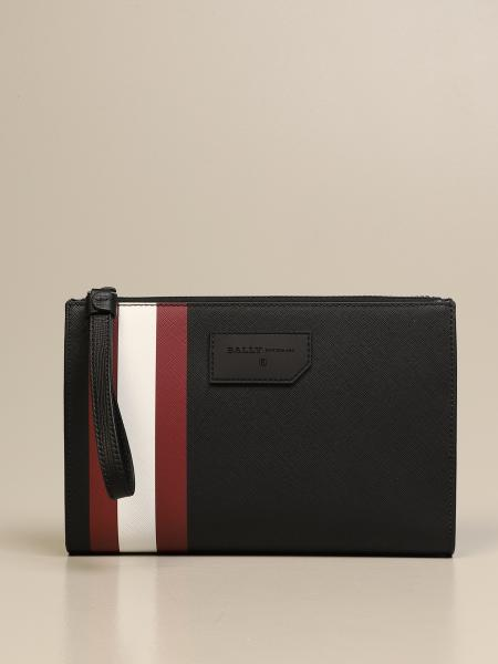 Skid Bally clutch bag in coated canvas with trainspotting